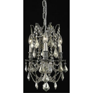 9203 Rosalia Collection Pendant D:13in H:18in Lt:3 Pewter Finish (Royal Cut C...