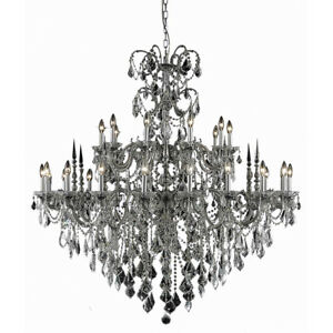 9730 Athena Collection Chandelier D:53in H:54in Lt:30 Pewter Finish