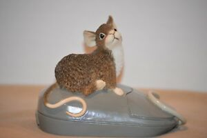 AFTER THE PARTY MOUSE FIGURINE~Limited Edition Mouse on mouse vintage~MUNRO RARE