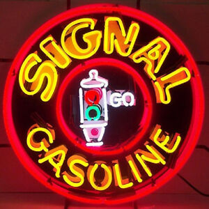 Signal Gas Neon Sign 5GSSIG with Silkscreen Backing & FREE Shipping