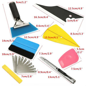 8in1 Squeegee Car Window Tinting Auto Film Install Wrapping Applicator Kit Newly