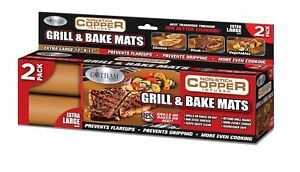 Gotham Steel Non-Stick Copper Grill & Baking Mats – 2 PACK - As Seen on TV! NEW