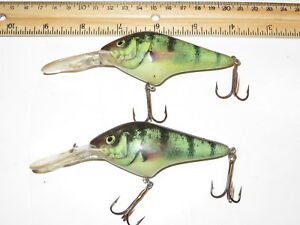 Lot of 2 Berkley Frenzy Mag Diver 3 12  Lures Green Perch Threadfin Shad