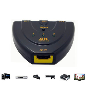 4K*2K 3-Port-HDMI-Switch  HDMI Splitter 3 in 1 out hub for HDTV PS4 Xbox