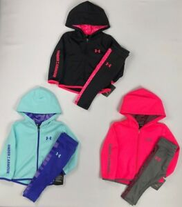 Baby Girl's Infant Under Armour Full Zip Hoodie and Leggings 2 Piece Set
