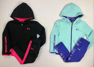 Toddler Girl's Under Armour Full Zip Hoodie and Leggings 2 Piece Set