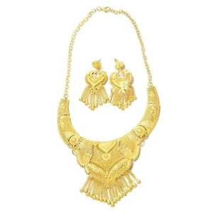 Jewelry Sets Luxury NecklaceEarrings For Women Girls Gold Color Elegant