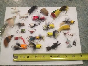 26 POPPERS Fly Rod Cork BIG FROG One NEAT Weedless lures tackle crankbaits
