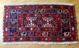 Vintage Turkish Handwoven Wool Hand Knotted Kilim ? Rug roughly 3'.5