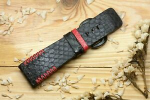 Python leather watch band watch strap  watch  bracelet for Sevenfriday #DT0365