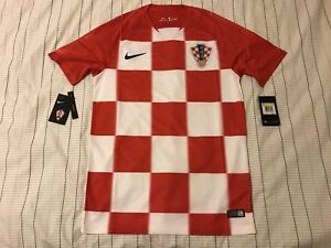 Men's Nike 2018 World Cup Croatia Authentic Home Shirt Jersey Dri-Fit Size S