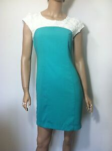C Luce Green Vanilla Cocktail women Lady Dress Lace Roses Sz.S