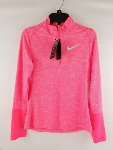 NIKE Dri-Fit Element Half Zip Top 890206 Girl's M Running Shirt  $45