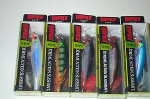 5 RAPALA X-RAP XR-10 MINNOW LURES  LOT#N12