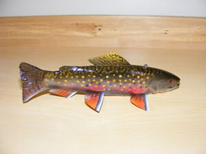 BROOK TROUT FISH DECOY BY JIM STANGLAND