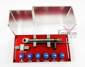 Universal adapter and Dental implant torque wrench & driver kit straumann new