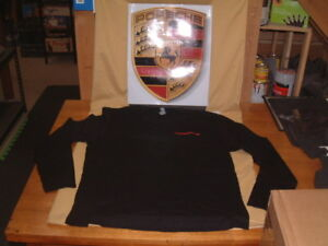 PORSCHE DESIGN PCNA RETURN TO LE MANS BLACK LONG SLEEVE FROM 2014. USA LARGE