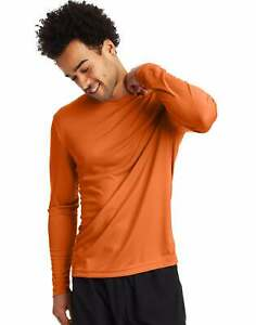 Hanes Men#x27;s Long Sleeve T Shirt Men Cool DRI Performance Athletic Wicking XS 3XL $10.80