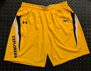 LaSalle Explorers Basketball Under Armour Authentic Game Shorts Yellow Men's XL