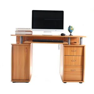 Home Office Computer Desk Writing Table Workstation with 3 Drawers