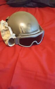 MS ACH Army Helmet Sz Lg With Goggles. Perfect for Airsoft Paintball reenactment
