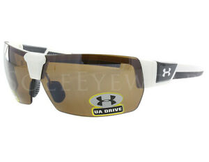 NEW Under Armour Drive Satin White Brown Sunglasses 8600045-6502