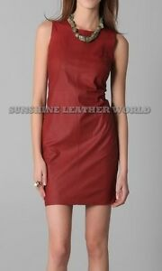Spring Designer Lamb New Leather Women Dress Cocktail Stylish Party Wear  D-126