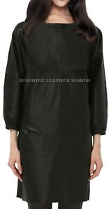 Spring Designer Lamb New Leather Women Dress Cocktail Stylish Party Wear  D-042