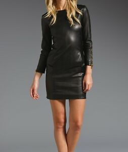 Spring Designer Lamb New Leather Women Dress Cocktail Stylish Party Wear  D-072