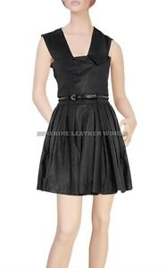 Spring Designer Lamb New Leather Women Dress Cocktail Stylish Party Wear  D-097