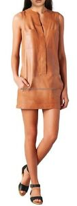 Spring Designer Lamb New Leather Women Dress Cocktail Stylish Party Wear  D-021