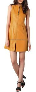 Spring Designer Lamb New Leather Women Dress Cocktail Stylish Party Wear  D-016