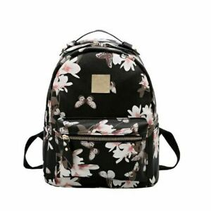 Women Leather Backpack Flower Floral Backpacks For Teenage Girls Small Printing