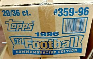 1996 TOPPS FOOTBALL CASE FACTORY SEALED CASE 20 BOXES 36 PACKS EACH