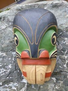 Wonderful From Sea mask By Ozzie Matalpi (Kwaginlth Kwakwaka'wakw) Red cedar