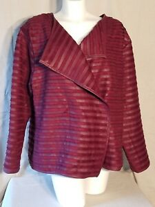 THE LIMITED® Plus Size 3X Oxblood Faux Suede & Leather Like Pieced Jacket NWT