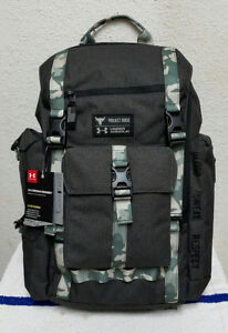 New Under Armour Project Rock USDNA Regiment GreyCamo Nylon Unisex Backpack