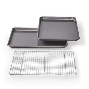 Chicago Metallic Professional Non-Stick CookieJelly-Roll Pan Set with Cooling