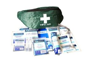 Green Bumbag Emergency First Aid Kit (QF1502) Outdoor Activity Sports