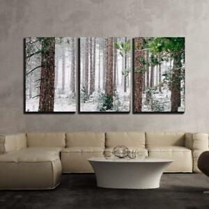 Wall26 Pine Trees Covered with Snow Canvas Art Wall Decor 16x24x3 Panels