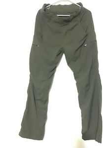 Lululemon Athletic Lined Olive Green Cargo Pants Size M Zip Pockets