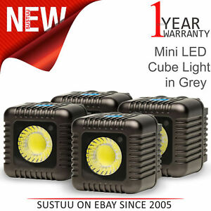 Lume Cube Mini Portable LED Action Light (Pack of 4)│Bluetooth Controlled│Grey