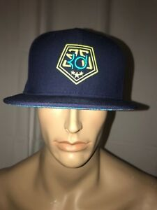 Nike KD Stars Kevin Durant True Snapback Hat Cap Midnight Navy Tropical Teal