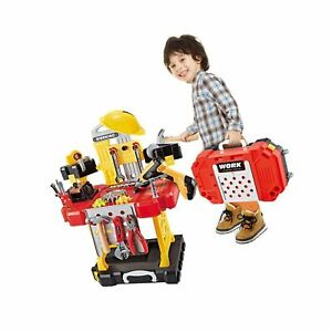 Kids Toy Workbench for Toddlers 110 Pieces Kids Power Workbench Construction...