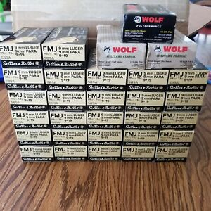Lot 30 Empty 9mm Ammo Boxes 50 Rds 1500 Rounds Total