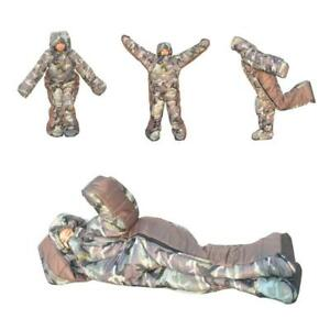Adult Wearable Sleeping Bag with Arm Legs for Family Camping Travel Hospital