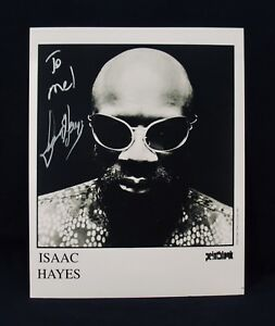 ISAAC HAYES-Autographed 8 x 10 Photograph-SHAFT-SOUL-FUNK-With Full COA Letter