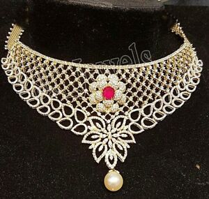 24.08ct NATURAL DIAMOND RUBY 14k SOLID YELLOW GOLD WEDDING ANNIVERSARY NECKLACE