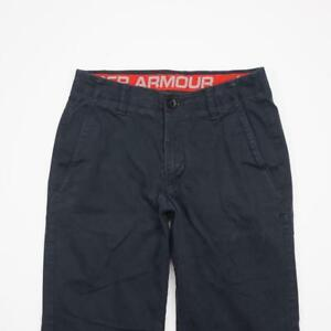 UNDER ARMOUR Performance Flat Front Casual Chino Golf Pants Navy Mens 30x32