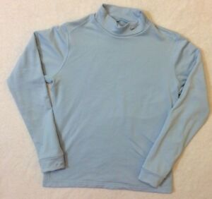 Nike Fit Dry Blue Mock Neck Top Fleece Lined Girls Size Large Athletic Top Shirt